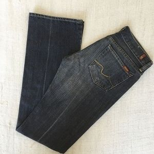 7 For All Mankind FAM Black Factory Faded Bootcut